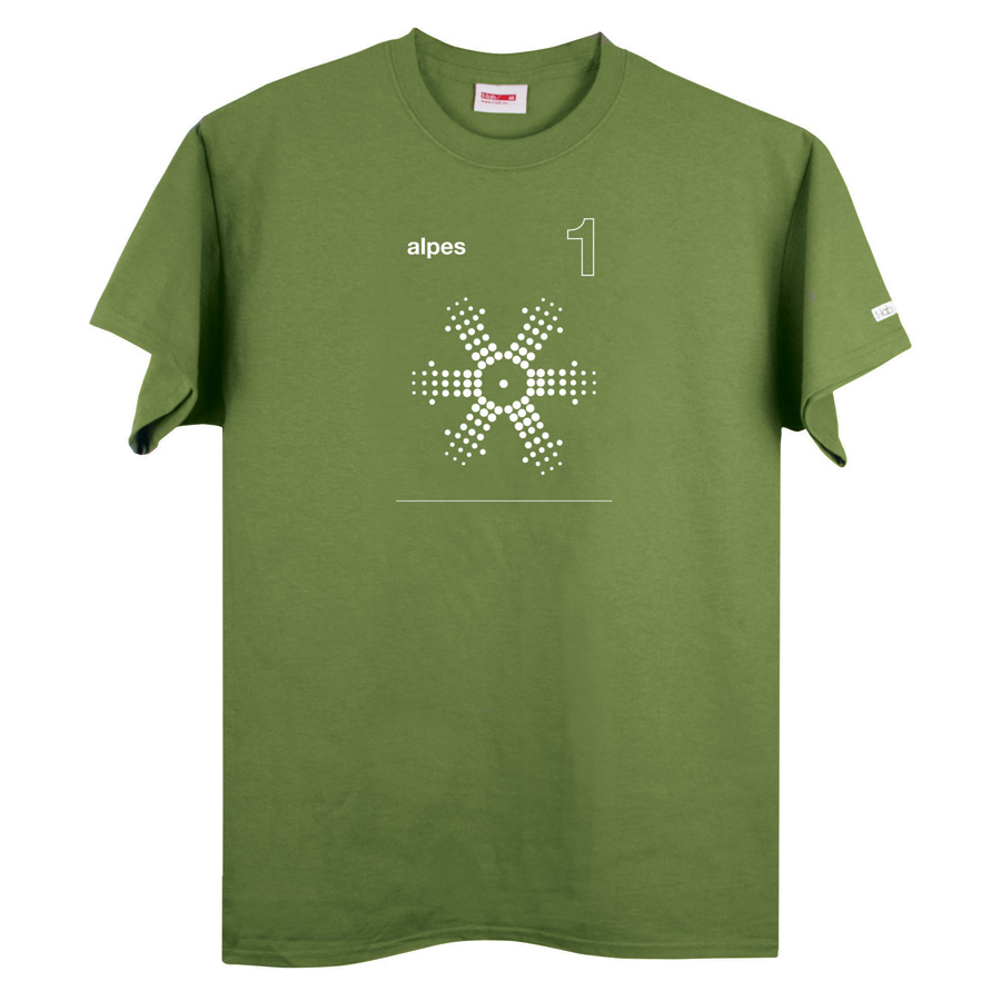 Alpes 1 green t-shirt