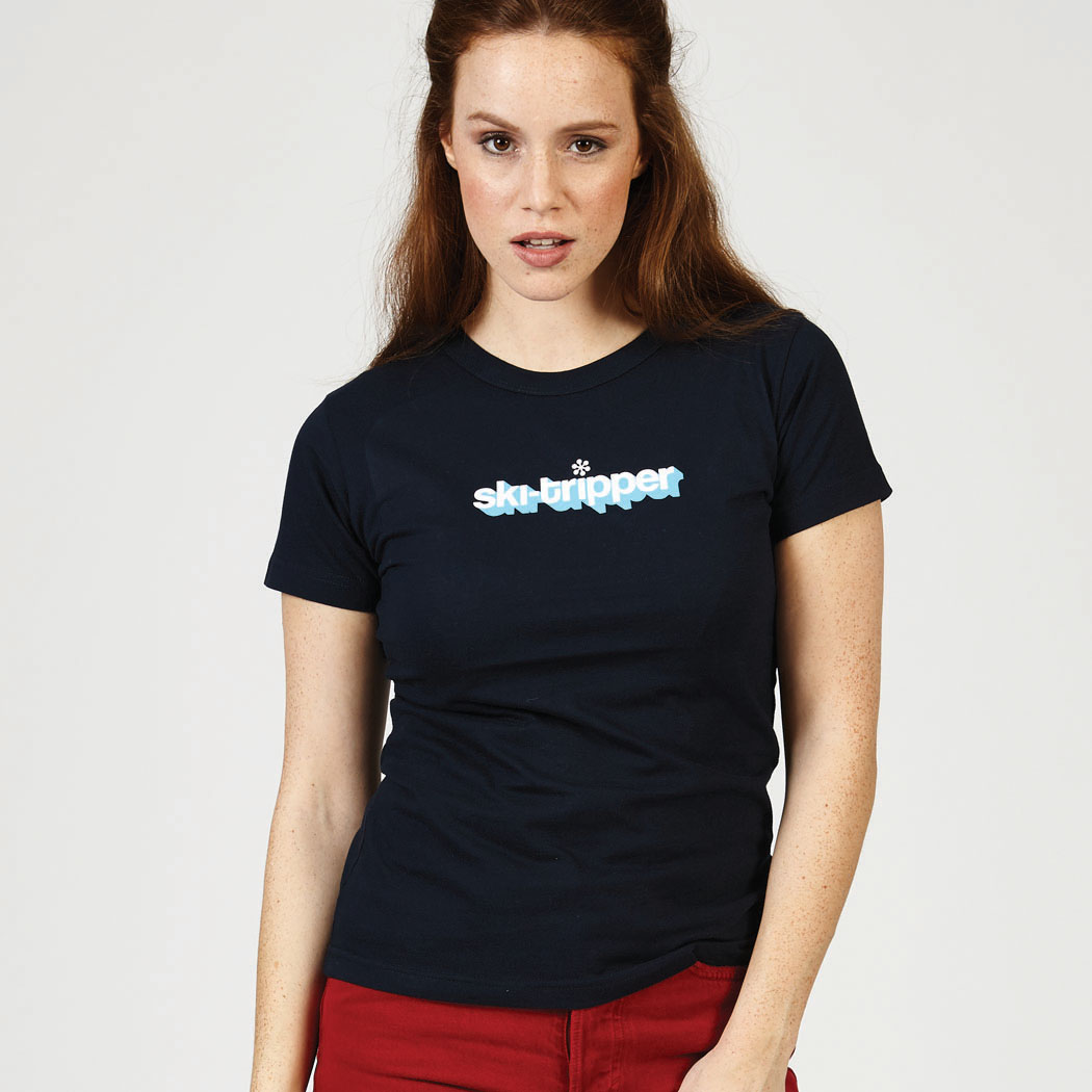 Ski-tripper womens t-shirt chest