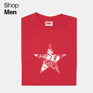 Star on red t-shirt