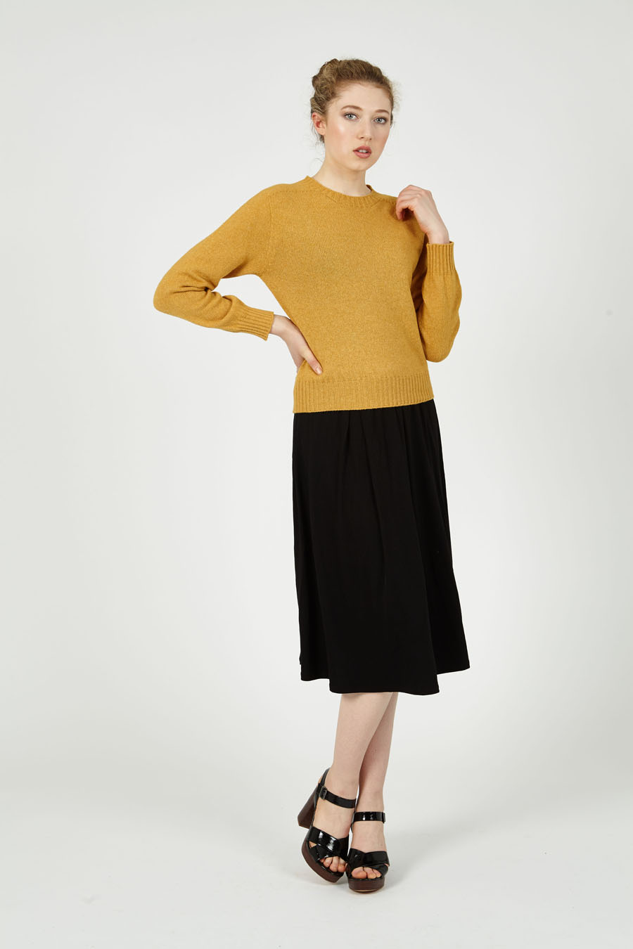 T-lab Alana womens sweater citrus model full