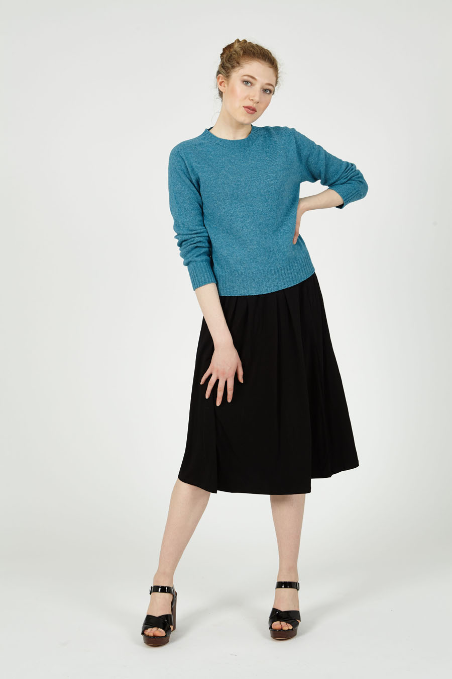 T-lab Alana womens sweater kingfisher model full