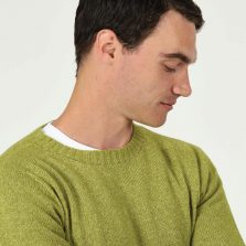 T-lab Bruce mens sweater green model close