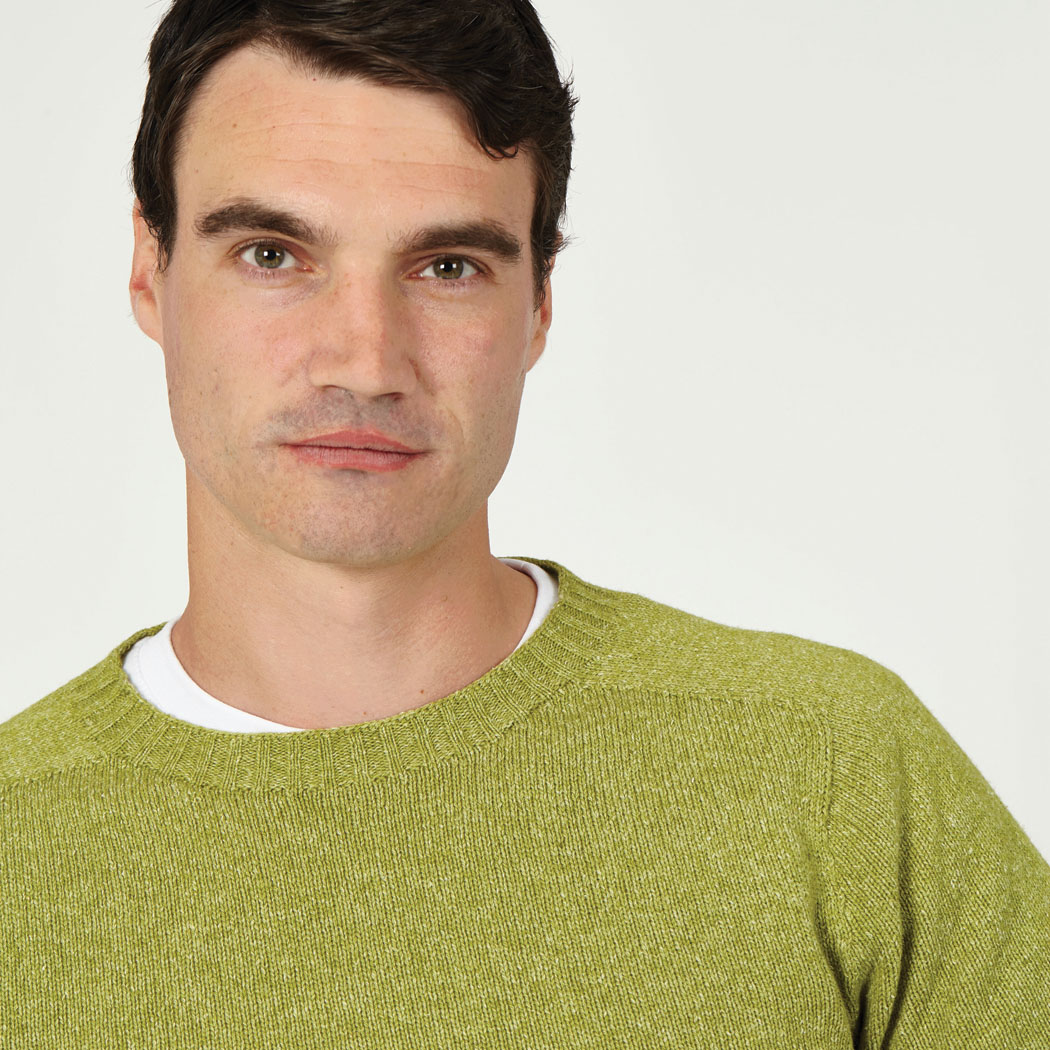 T-lab Bruce mens sweater green model crop square