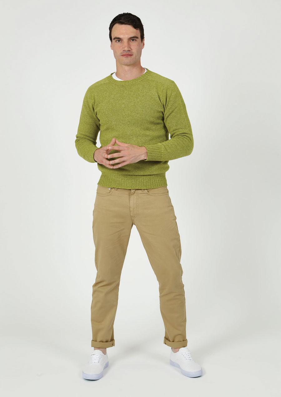 T-lab Bruce mens sweater green model full