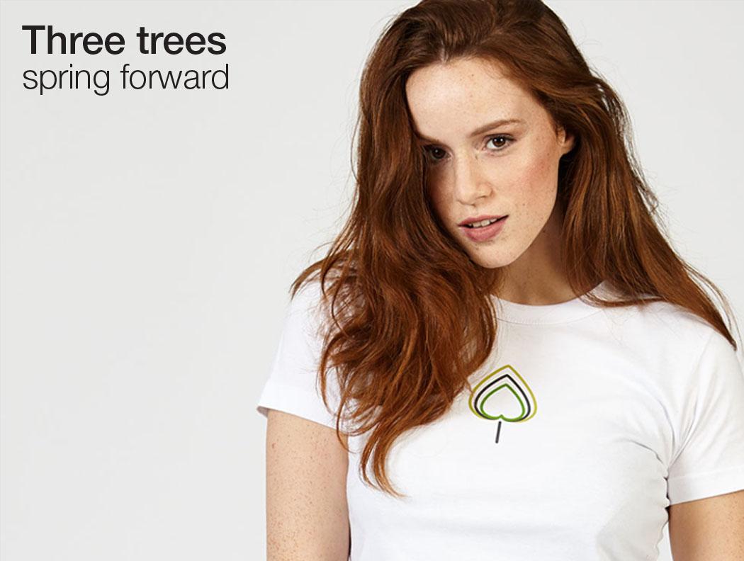 Three trees T-lab womens t-shirt