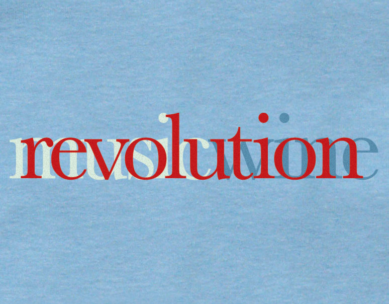 Revolution T-lab mens t-shirt blue chest