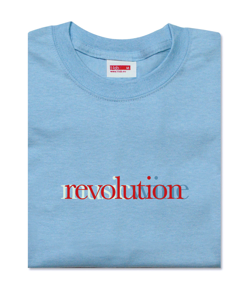 Revolution T-lab mens t-shirt blue folded
