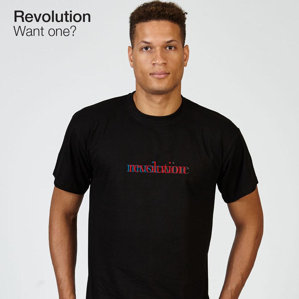 Revolution T-lab mens t-shirt black model full