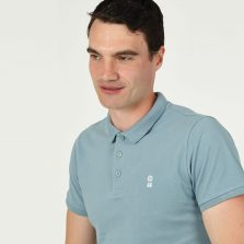 T-lab 66 Mens football polo shirt blue