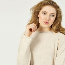 T-lab Ioana womens knitwear white model crop