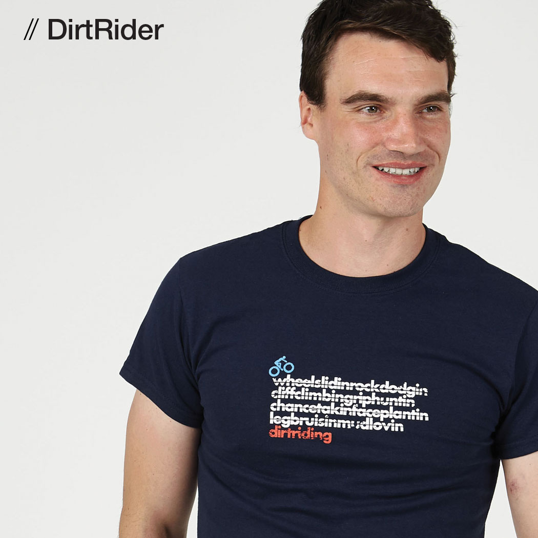 Tlab DirtRider mens t-shirt navy