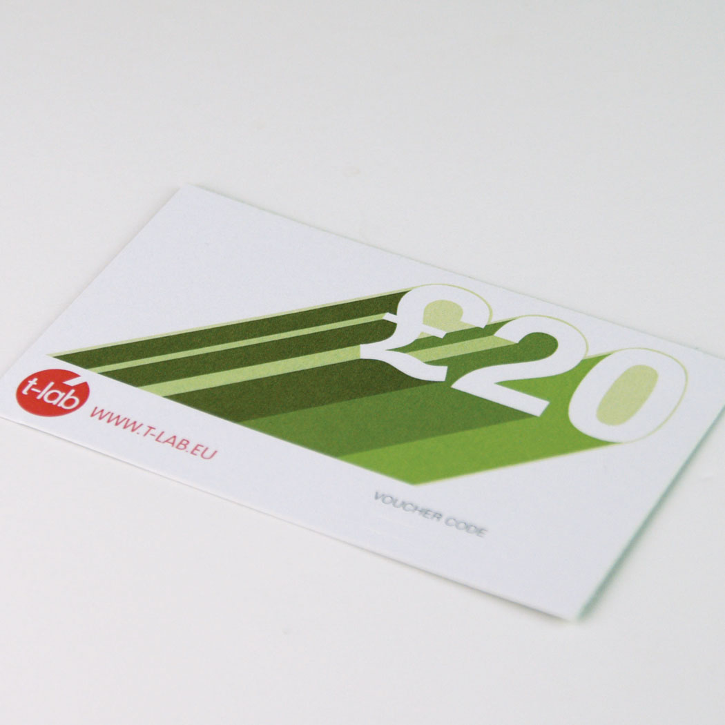 T-lab gift card and voucher