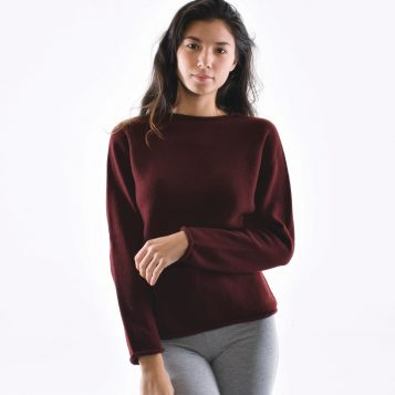 T-lab Lara womens knitwear model closeup