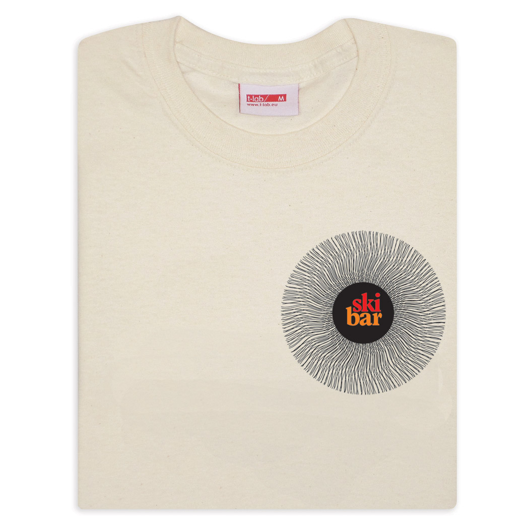 T-lab Ski Bar men's white t-shirt