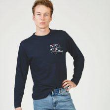 T-Lab Ski Squad mens LS t-shirt navy cropped