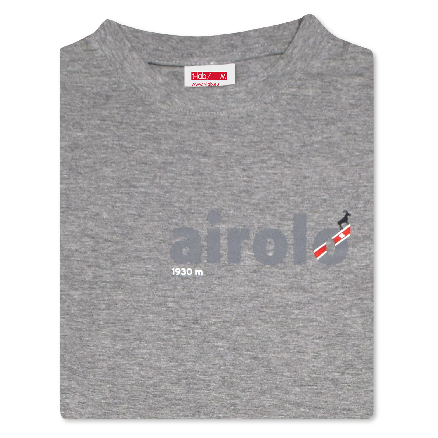 T-lab Airolo longsleeve t-shirt grey folded