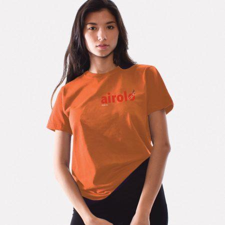 T-lab Airolo womens t-shirt orange model
