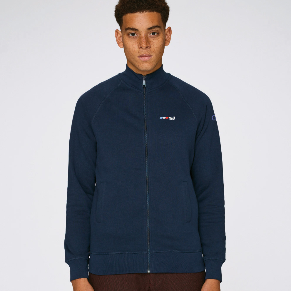 T-lab Grenoble '68 mens zipped sweat navy model