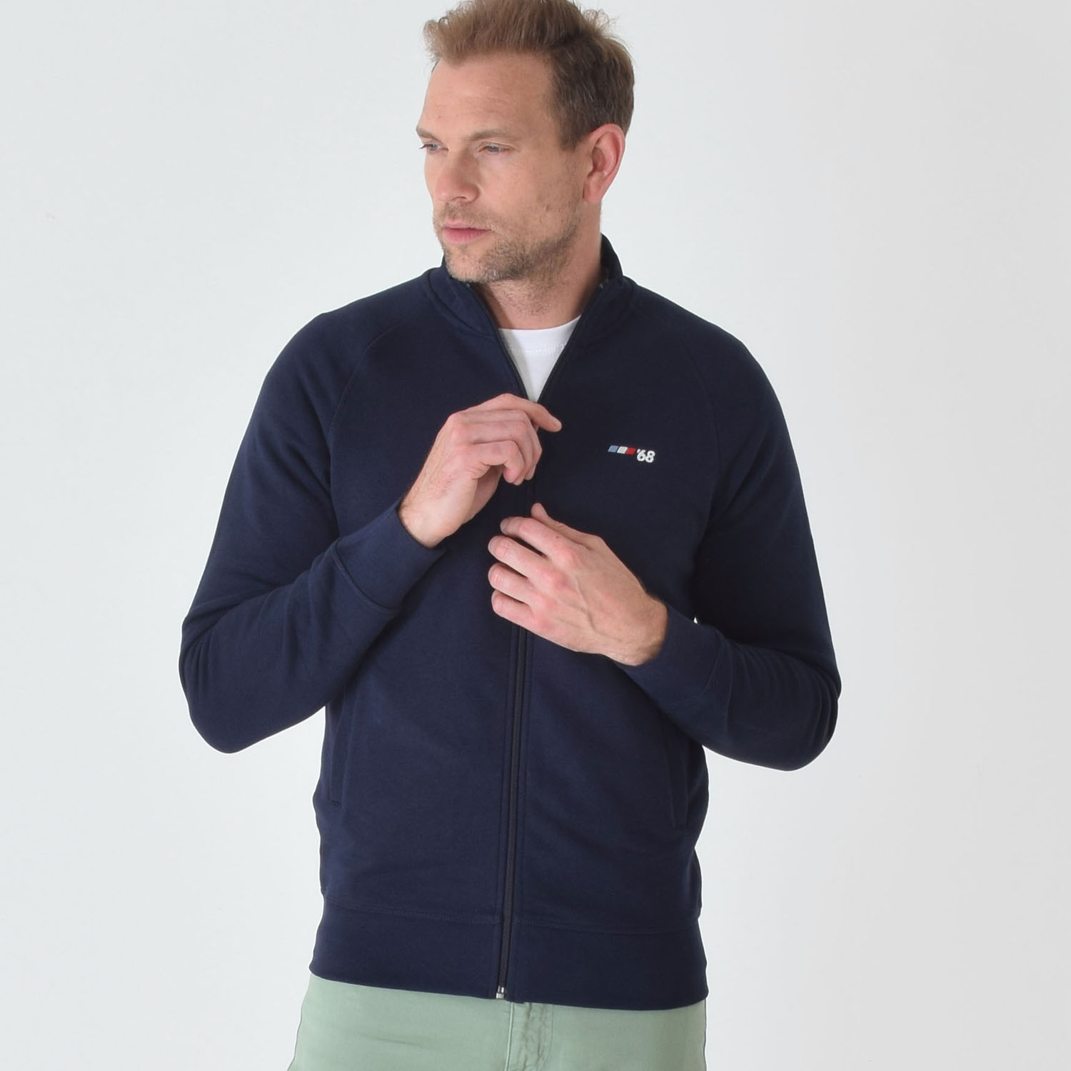 T-lab-Grenoble'68-mens-zipped-fleece-navy