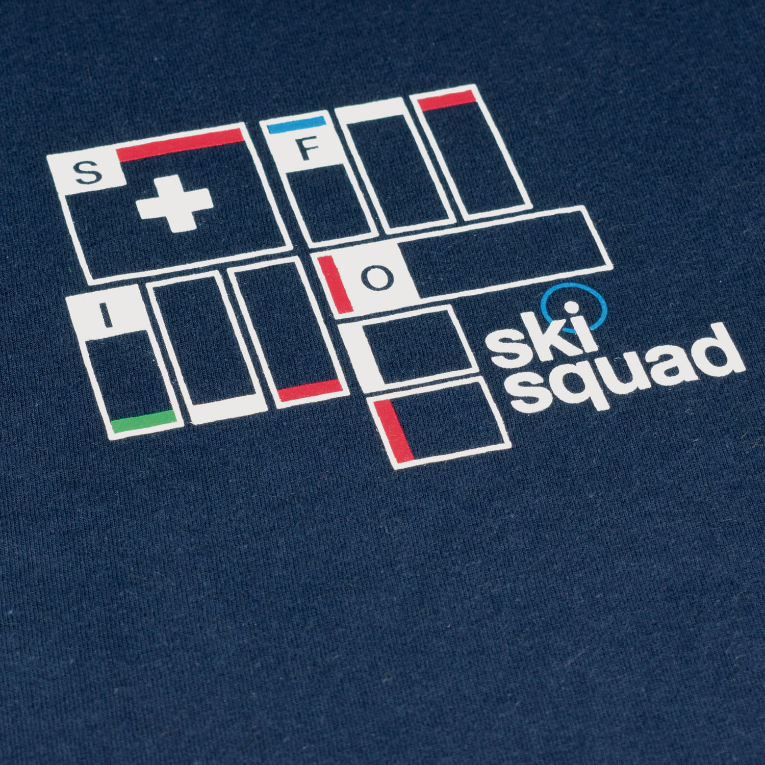 T-lab Ski Squad mens t-shirt close-up