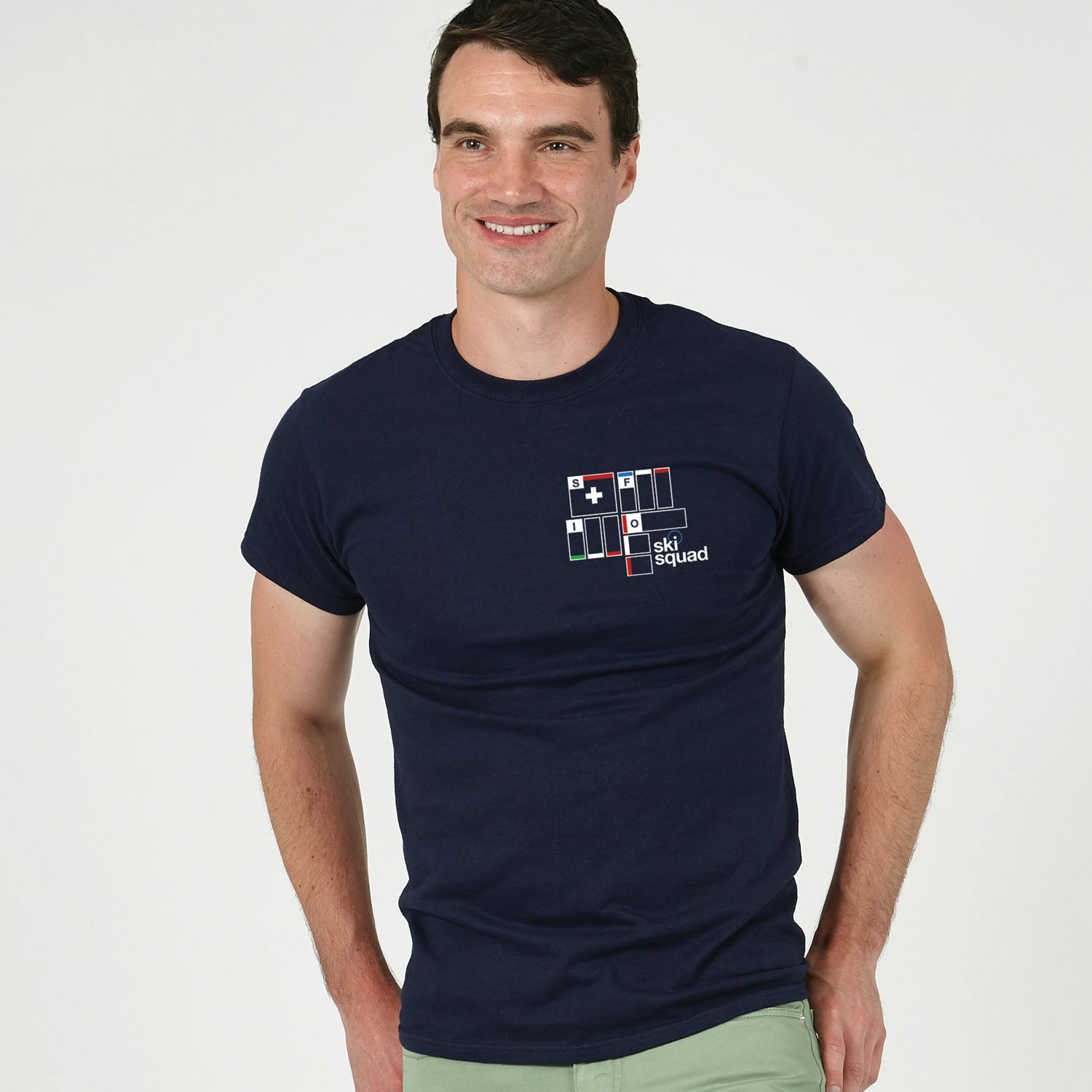 T-lab Ski Squad mens t-shirt navy model2