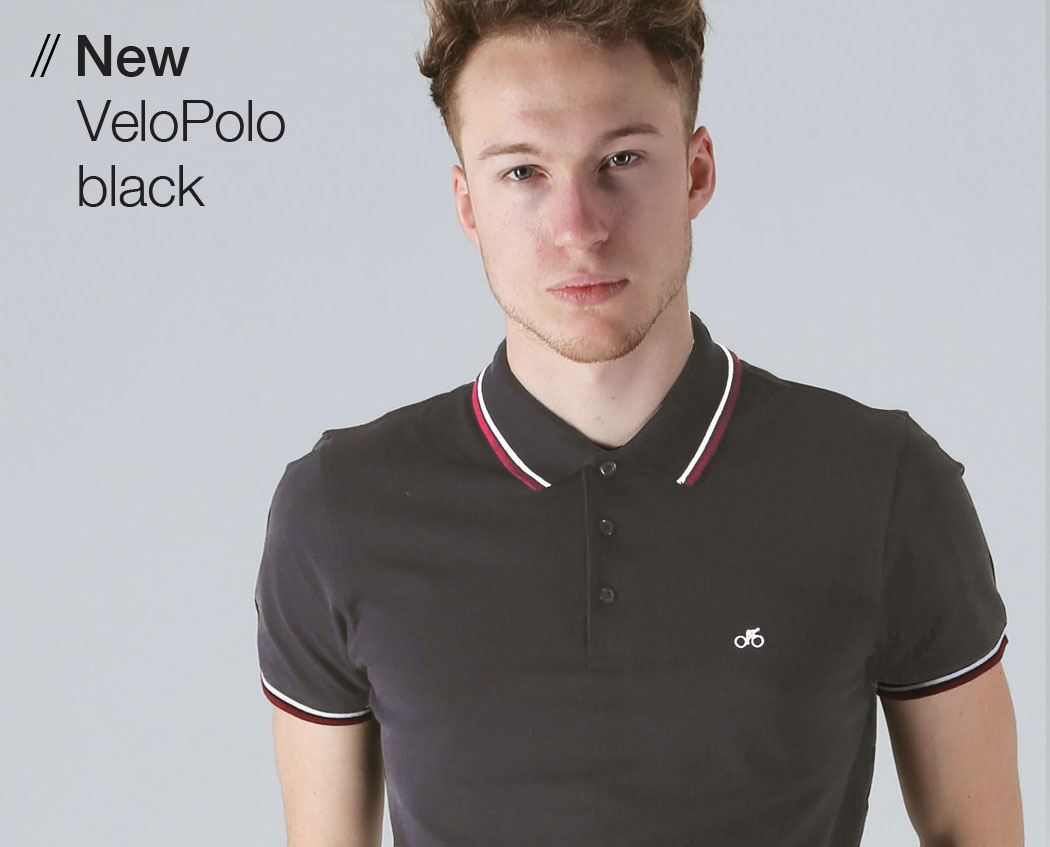 T-lab VeloPolo mens polo black