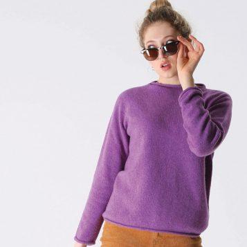 T-lab Lara Womens knitwear amethyst