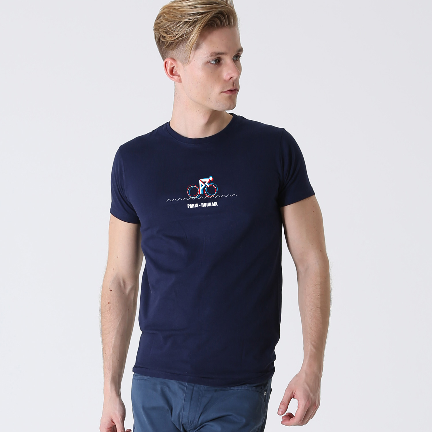 T-lab-Mens-Paris-Roubaix Mens-t-shirt-model