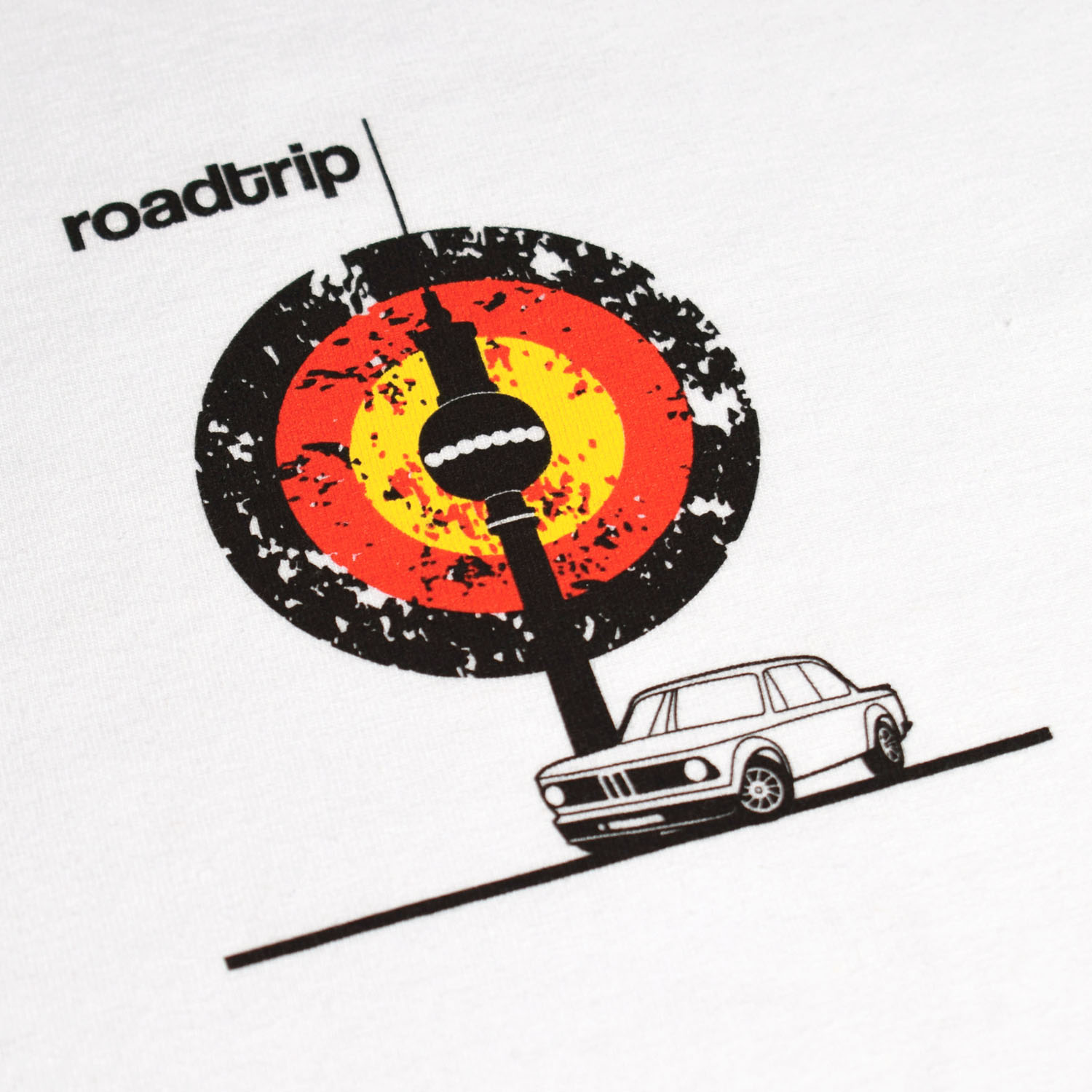 T-lab Roadtrip Berlin mens car t-shirt chest