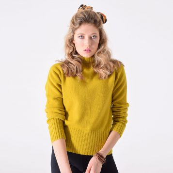 T-lab Skye womens knitwear saffron