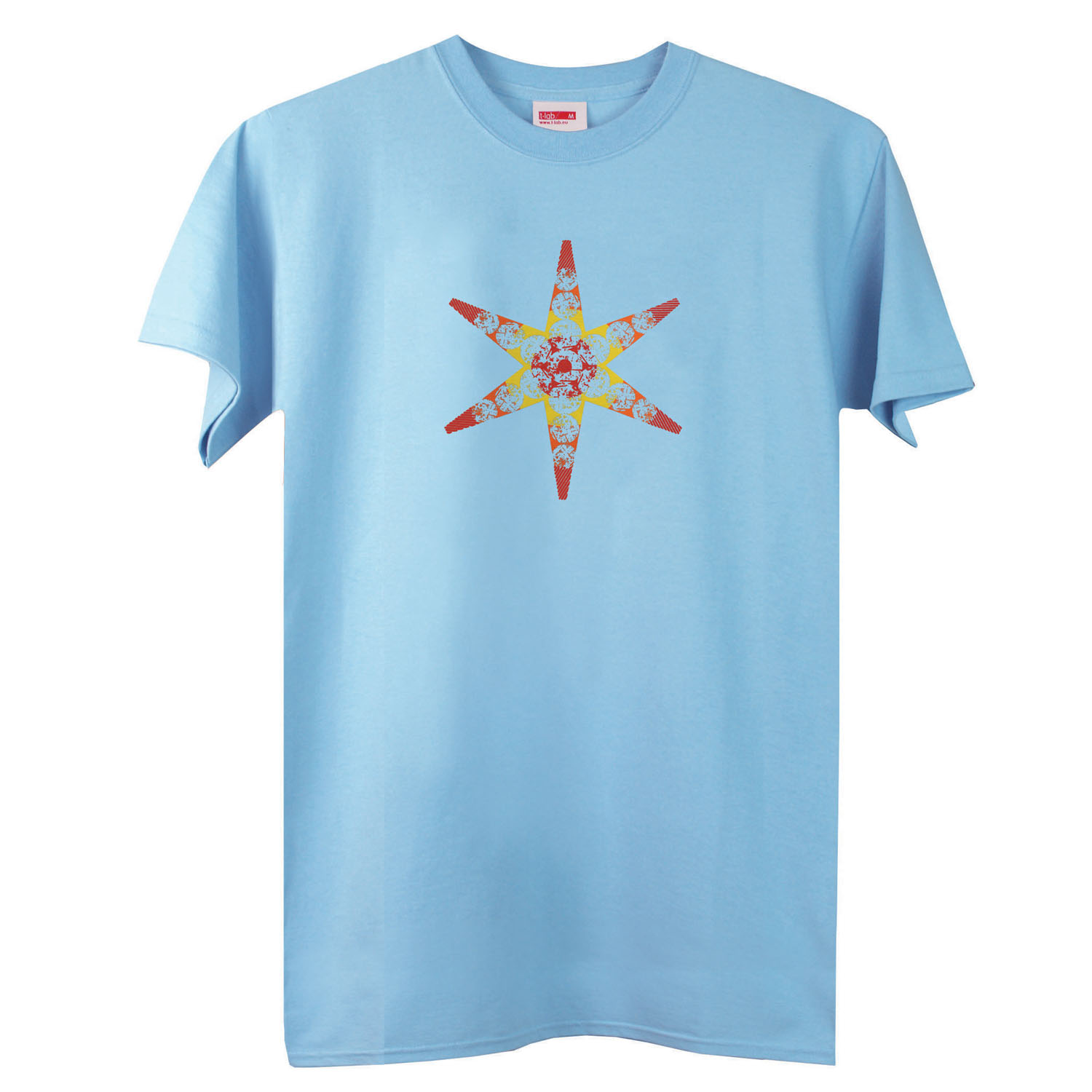 T-lab-BBQ-Star-mens-t-shirt-blue