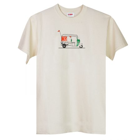T-lab Tuk Tuk mens natural white t-shirt