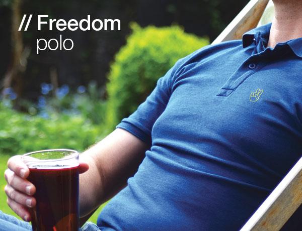 T-lab mens Freedom Polo shirt blue