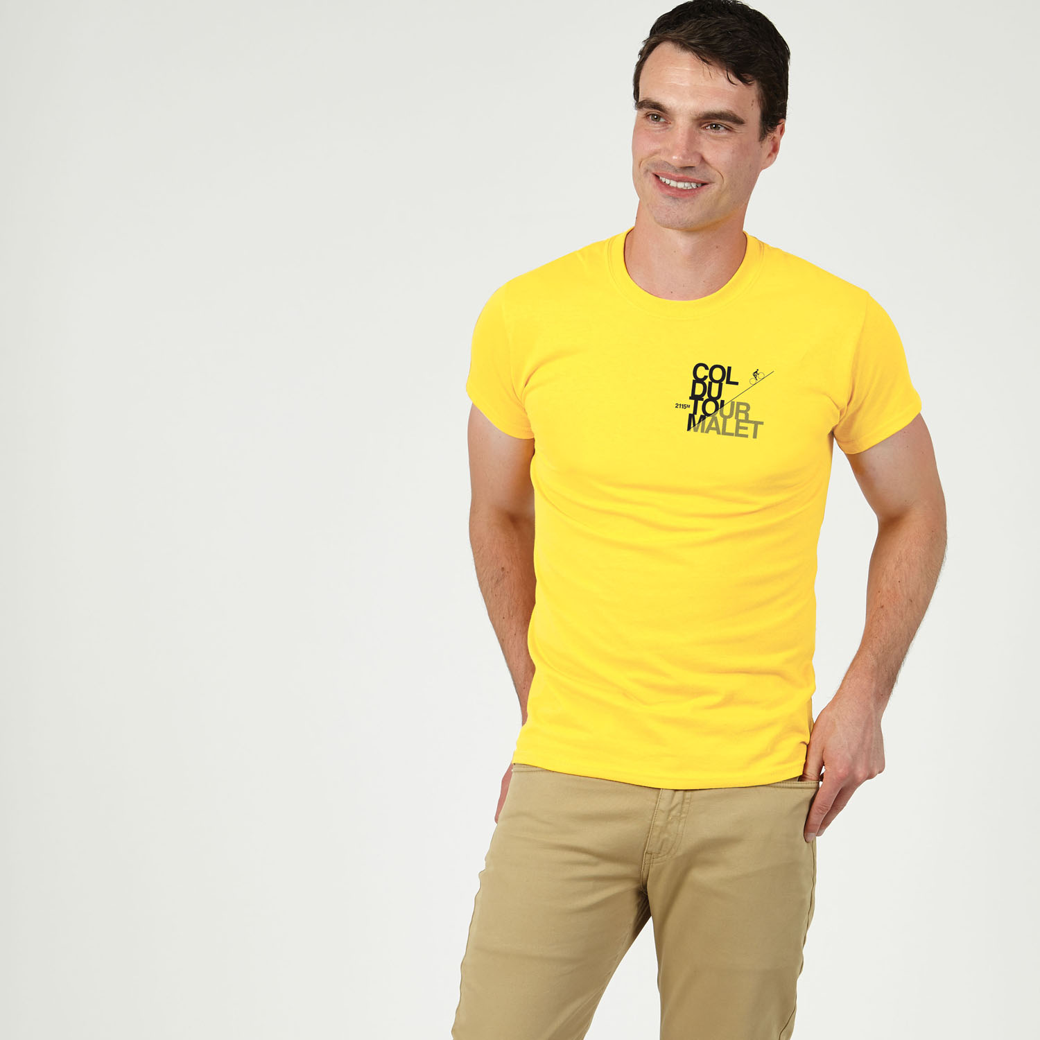 T-lab-Tourmalet-mens-t-shirt-yellow-model