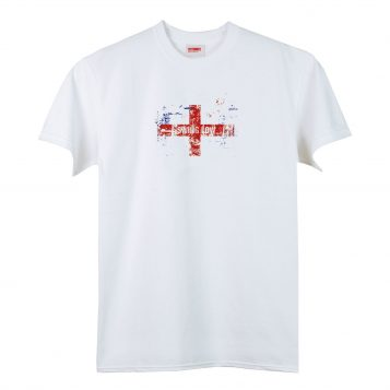 T-lab mens swing low rugby t-shirt white
