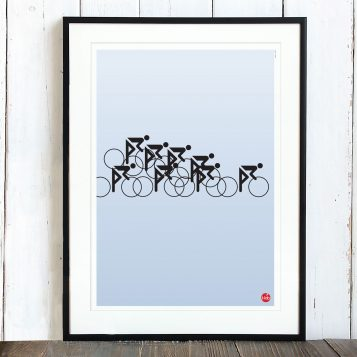 T-lab-Peloton-A3-cycling-poster-framed