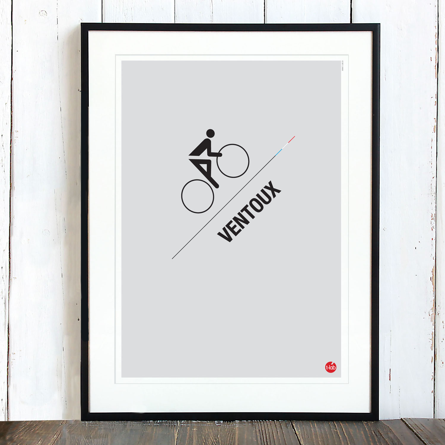 T-lab-Ventoux-A3-cycling-poster-framed